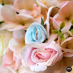 Engagement Ring in Flowers by AMD Studios