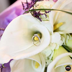 Wedding Flowers with Engagement Ring by AMD Studios - 001