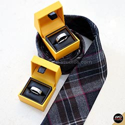 Wedding Rings and Tie by AMD Studios