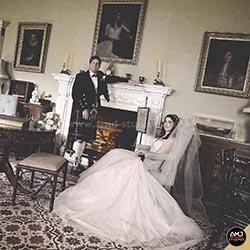 Vintage Wedding Photograph by AMD Studios