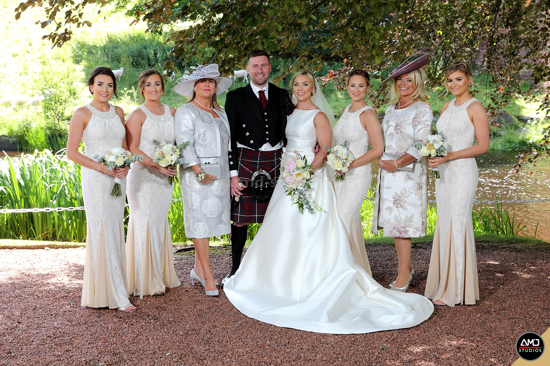 Wedding photography at The Brig O'Doon House Hotel by AMD Studios